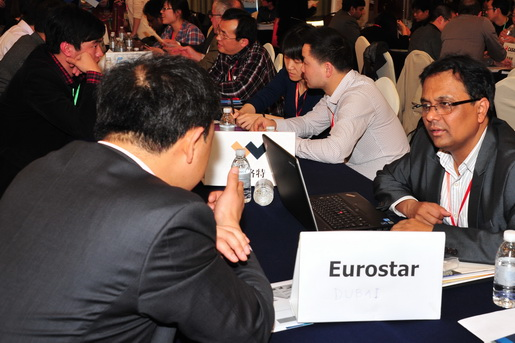 Dubai Eurostar Talking with Suppliers