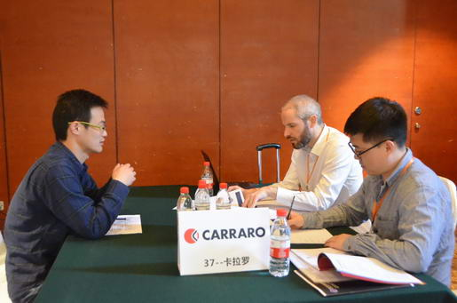 Carraro Purchasing Director and Supplier Discussed in VIP Room.